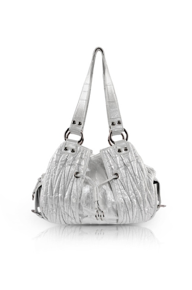 DIVA PEARL EEL SKIN LEATHER BAG